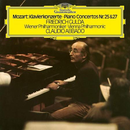 Friedrich Gulda, Claudio Abbado, Wiener Philharmoniker: Mozart: Piano Concertos Nos. 25 & 27 - Plak