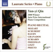 Yun-yi Qin: Piano Recital: Yun-Yi Qin - Mozart, W.A. / Schubert, F. / Haydn, J. / Granados, E. / Scriabin, A. / Friedman, I. / Liszt, F. / Prieto, C. - CD