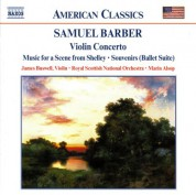 Marin Alsop, James Buswell, Royal Scottish National Orchestra: Barber: Violin Concerto - Music for a Scene from Shelley - CD