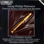 Clas Pehrsson, Drottningholms Barock Orchestra, Dan Laurin: Telemann - Complete Double Concertos with Recorder - CD