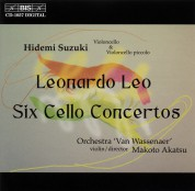 Hidemi Suzuki: Leonardo Leo - Six Cello Concertos - CD
