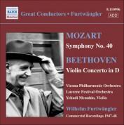 Mozart: Symphony No. 40 / Beethoven: Violin Concerto - CD