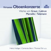 Heinz Holliger, Louise Pellerin, Camerata Bern, Thomas Füri: Oboenkonzerte (Marcello, Graun, Lebrun, Telemann) - CD