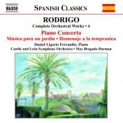 Rodrigo: Piano Concerto / Musica Para Un Jardin (Complete Orchestral Works, Vol. 4) - CD