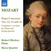 Mozart: Piano Concertos Nos. 12, 13 & 14 (version for piano and string quartet) ** - CD