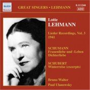 Lotte Lehmann: Lehmann, Lotte: Lieder Recordings, Vol. 3 (1941) - CD