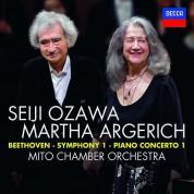 Seiji Ozawa, Martha Argerich, Mito Chamber Orchestra: Beethoven: Symphony 1, Piano Concerto 1 - CD