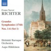 Aapo Häkkinen: Richter, F.X.: Grandes Symphonies (1744), Nos. 1-6 (Set 1) - CD