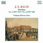 Wolfgang Rubsam: Bach: Partitas Nos. 3-4,  Bwv 827-828 - CD