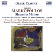 """Marc Grauwels: Markopoulos, Y.: Shapes in Motion / Pyrrichios Dance No. 13, """"Nemesis"""" / Concerto-Rhapsody / Triptych - CD"""