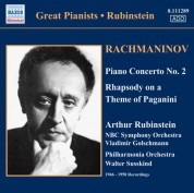Artur Rubinstein: Rachmaninov: Piano Concerto No. 2 / Rhapsody On A Theme of Paganini (Rubinstein) (1946-1950) - CD