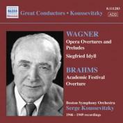 Serge Koussevitzky: Wagner: Opera Overtures / Brahms: Academic Festival Overture (Boston Symphony / Koussevitzky) (1946-1949) - CD