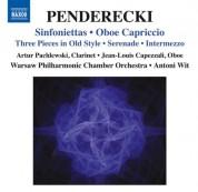 Antoni Wit: Penderecki: Sinfoniettas - Oboe Capriccio - CD