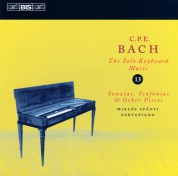 Miklós Spányi: C.P.E. Bach: Solo Keyboard Music, Vol. 13 (Son., Sinf. & Other Pieces) - CD