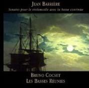 Les Basses Reunies, Bruno Cocset: Jean Barriere- Sonates pour le violoncelle avec la basse continue - CD