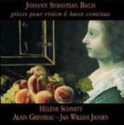 Helene Schmitt: Johann Sebastian Bach- pieces pour violon & basse continue - CD
