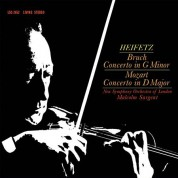 Jascha Heifetz, New Symphony Orchestra of London, Malcolm Sargent: Bruch, Mozart: Violin Concerto (200 g) - Plak