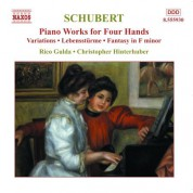 Rico Gulda, Christopher Hinterhuber: Schubert: Piano Works for Four Hands, Vol. 4 - CD