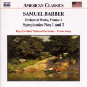 Marin Alsop, Royal Scottish National Orchestra: Barber: Orchestral Works, Vol. 1 - Symphonies Nos. 1 & 2 - CD