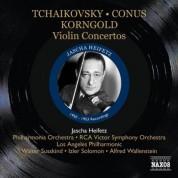 Jascha Heifetz: Tchaikovsky, Conus, Korngold: Violin Concertos - CD