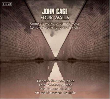 Giancarlo Simonacci, David Simonacci, Lorna Windsor, Ars Ludi Percussion Ensemble: Cage: Complete works for piano & voice and piano & violin - CD