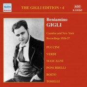 Beniamino Gigli: Gigli, Beniamino: Gigli Edition, Vol.  4: Camden and New York Recordings (1926-1927) - CD