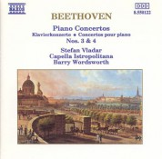 Capella Istropolitana, Stefan Vladar, Barry Wordsworth: Beethoven: Piano Concertos Nos. 3 and 4 - CD