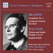 Brahms: Symphony No. 1 / Wagner: Siegfried Idyll (Klemperer) (1927-28) - CD