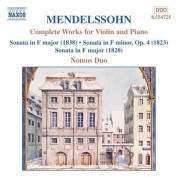 Mendelssohn: Works for Violin and Piano (Complete) - CD