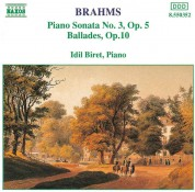İdil Biret: Brahms: Piano Sonata No.3, Ballades - CD