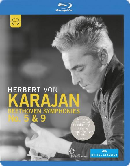 Agnes Baltsa, René Kollo, Anna Tomowa-Sintow, Jose Van Dam, Berlin Opera Chorus, Berliner Philharmoniker, Herbert von Karajan: Beethoven: Symphonies Nos. 5 and 9 - BluRay