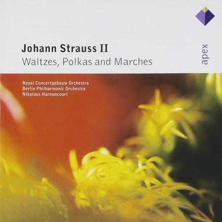 Concertgebouw Orchestra, Berliner Philharmoniker, Nikolaus Harnoncourt: Johann Strauss II: Waltzes, Polkas And Marches - CD