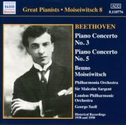 Beethoven: Piano Concertos Nos. 3 and 5 (Moiseiwitsch, Vol. 8) (1950, 1938) - CD