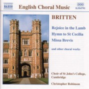 Britten: Rejoice in the Lamb / Hymn To St. Cecilia / Missa Brevis, Op. 63 - CD