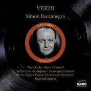 Tito Gobbi: Verdi, G.: Simon Boccanegra (Gobbi, Christoff, Los Angeles, Santini) (1957) - CD