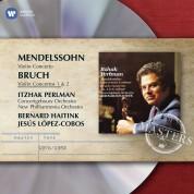 Itzhak Perlman, Concertgebouw Orchestra, New Philharmonia Orchestra, Bernard Haitink, Jesus Lopez Cobos: Mendelssohn/ Bruch: Violin Concertos - CD