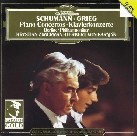 Krystian Zimerman, Herbert von Karajan, Berliner Philharmoniker: Schumann, Grieg: Piano Concertos - Plak