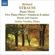 Stefan Veselka: Strauss, R: Piano Sonata / 5 Piano Pieces / Stimmungsbilder - CD