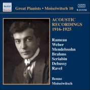 Benno Moiseiwitsch: Moiseiwitsch, Benno: Acoustic Recordings 1916-1925 - CD