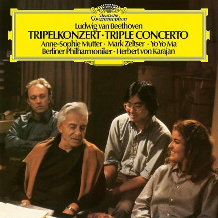Herbert von Karajan, Anne-Sophie Mutter, Yo-Yo Ma, Mark Zeltser: Beethoven: Triple Concerto - Plak