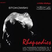 RCA Victor Symphony Orchestra, Leopold Stokowski: Liszt, Enescu: Hungarian Rhapsody, Roumanian Rhapsody (200 gr. - 45 RPM) - Plak