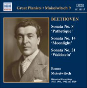 Benno Moiseiwitsch: Beethoven: Piano Sonatas Nos. 8, 14 and 21 (Moiseiwitsch, Vol. 9) (1927-1950) - CD