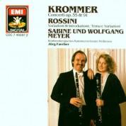 Sabine Meyer, Wolfgang Meyer, Württembergisches Kammerorchester Heilbronn, Jörg Faerber: Krommer/ Rossini: Concertos for 2 Clarinets Op. 35 & 91/ Variazioni e Introduzione - CD