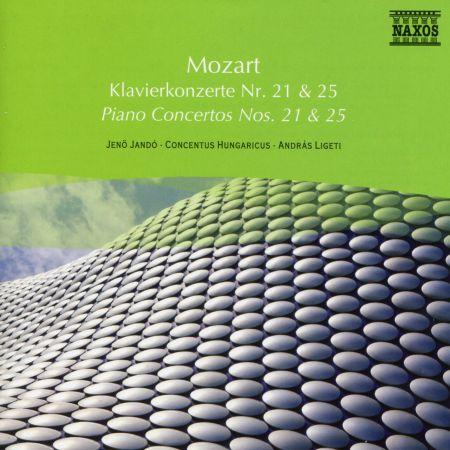Jenö Jandó: Mozart: Piano Concertos Nos. 21 and 25 - CD