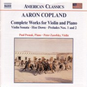 Copland: Works for Violin and Piano (Complete) - CD