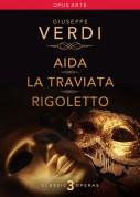 Verdi Operas: Aida / La traviata / Rigoletto - DVD