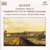Cologne Chamber Orchestra: Haydn: Symphonies, Vol. 22 (Nos. 13, 36 / Sinfonia Concertante) - CD