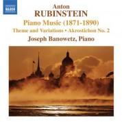 Joseph Banowetz: Rubinstein: Piano Music (1871-1890) - CD