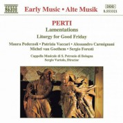 Perti: Lamentations / Liturgy for Good Friday - CD
