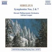Sibelius: Symphonies Nos. 2 and 7 - CD